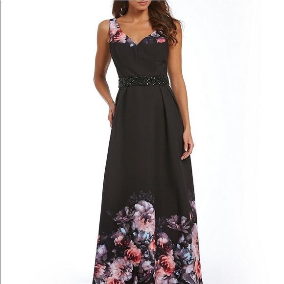 515482151f2 Ignite Evenings floral print beaded waist 8   12
